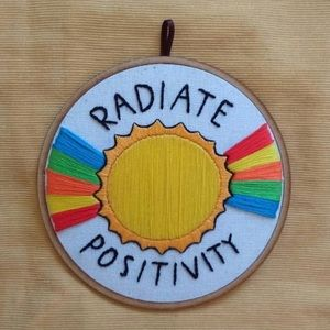 Radiate Positivity embroidery hoop